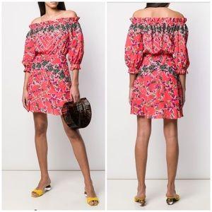 Saloni Grace Floral Mini Dress Sz 2